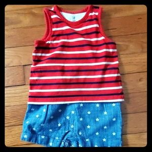 Baby Gap Boys One Piece Star Spangled Outfit